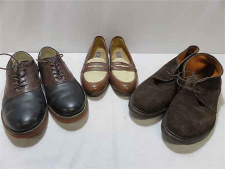 Men's Leather Casual Shoes - Size 11