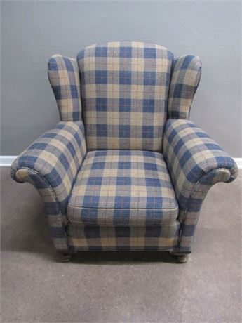 Nice Plaid Upholstered Occasional Chair