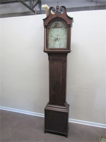 ANTIQUE LONGCASE GRANDFATHER CLOCK OVER 200 YEARS OLD
