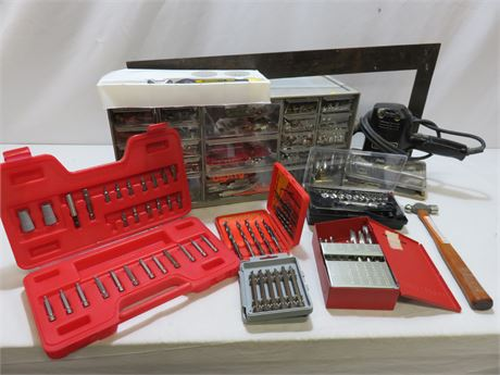 Assorted Tools & Hardware Lot