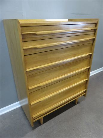 CRAWFORD Mid-Century Maple Chest of Drawers