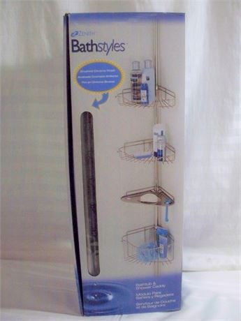 ZENITH BATHTUB/SHOWER CADDY - NIB.