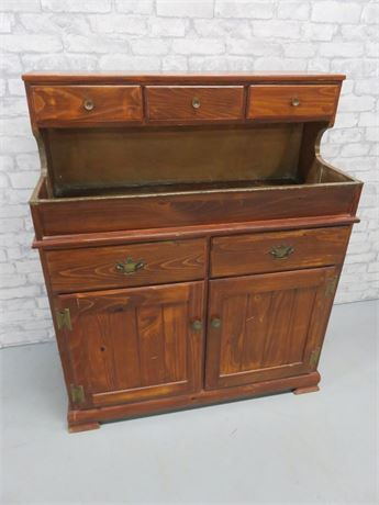 Vintage Copper Lined Dry Sink