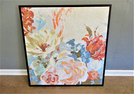 Pier One Floral Print on Canvas