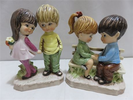 Vintage 1971 Moppets Figurines
