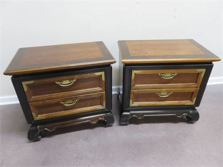 "BROYHILL Premier ""Ming Dynasty"" Asian Nightstands"