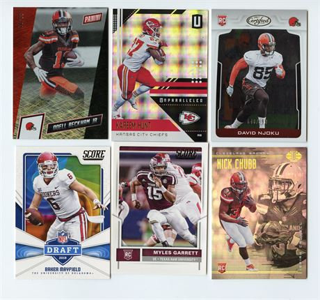 CLEVELAND BROWNS LOT W/ MYLES GARRETT ROOKIE BAKER MAYFIELD OBJ HUNT