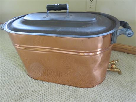 Copper Boiler with Spigot