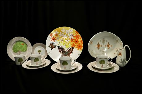 Shaffold Ceramics, Butterflies by Winter and the 70's classic table wear
