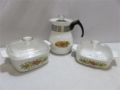 3-Piece CORNING WARE Spice of Life Set