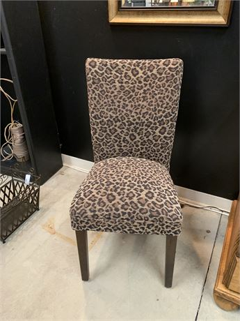 Accent Animal Print Chair