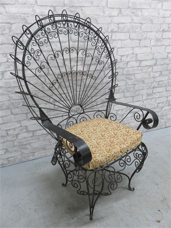 Ornate Wrought Iron Chair