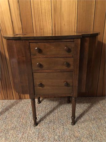 Vintage Sewing Side Table