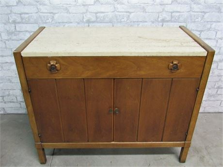 Mid Century Buffet with Marble Top