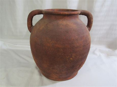LARGE CLAY/POTTERY URN WITH HANDLES