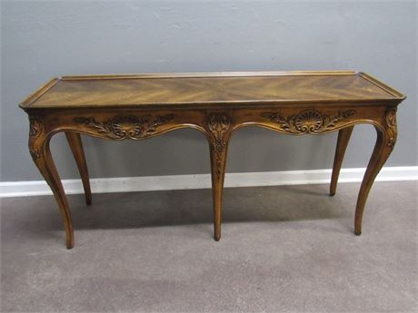 Gorgeous Henredon Sofa Table with Nice Carved Details