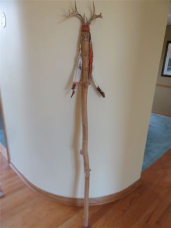 Native American Style Carved Branch