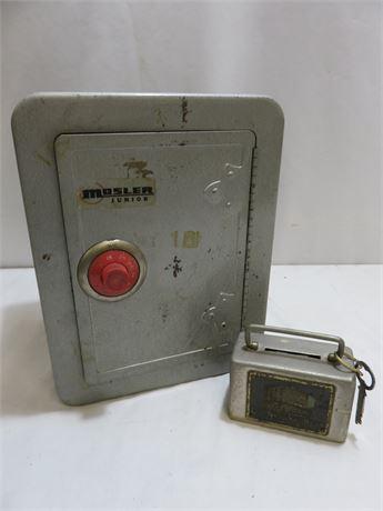 Vintage Mosler Junior Coin Bank Drawer Safe