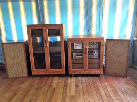Vintage Stereo System & Cabinets