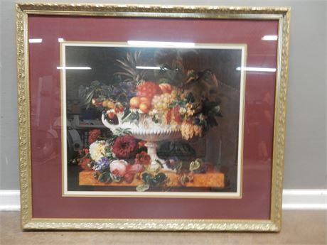 Fruit Bowl Print Professionally Framed