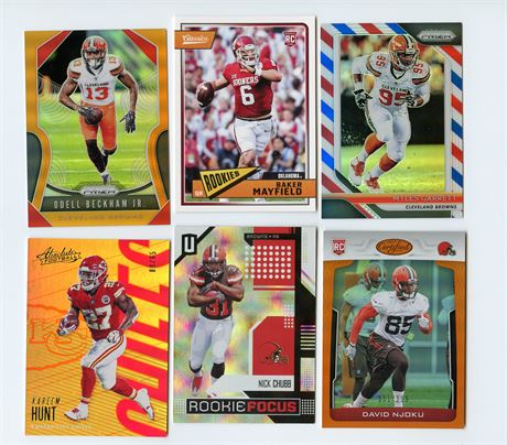 CLEVELAND BROWNS LOT W/ NICK CHUBB & ROOKIE BAKER MAYFIELD OBJ HUNT