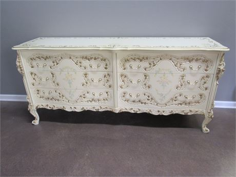 P. Pikkel Interiors Inc French Provincial Dresser Hand-Painted by W. Baeckelandt