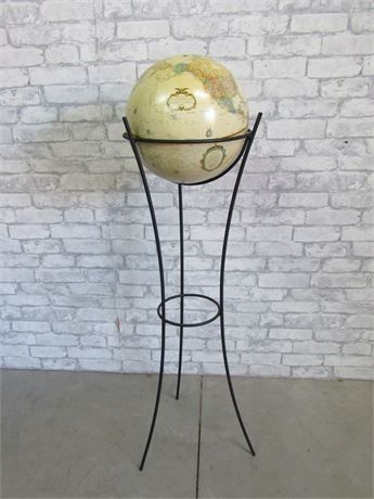 """Replogle 12"""" World Classic Series Globe with Wrought Iron Stand"""