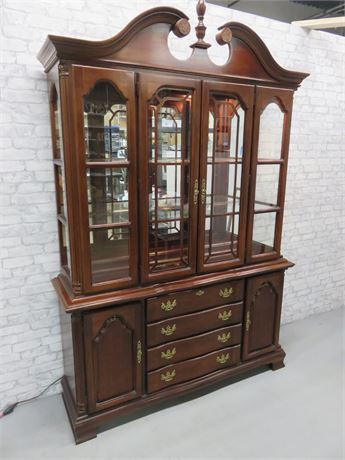 LEXINGTON Chippendale Breakfront China Cabinet Hutch