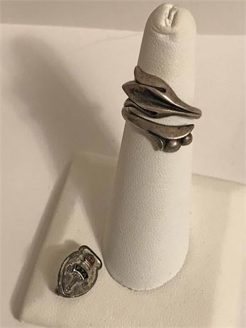 Sterling Silver Ring & Pin