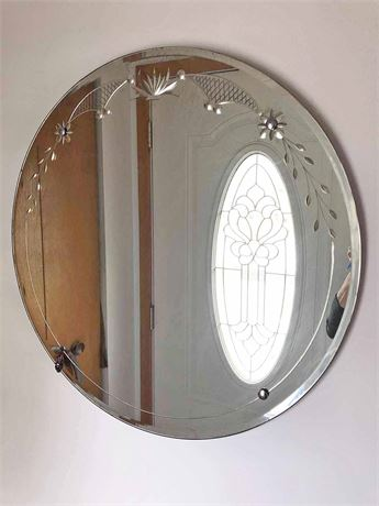 Vintage Etched Mirror