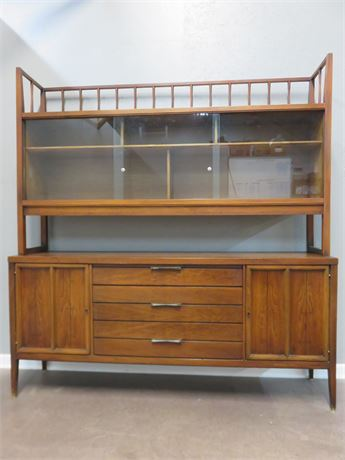 LANE Tuxedo Mid-Century Buffet with Hutch