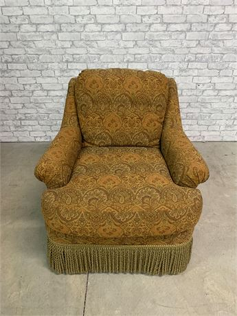 Sherrill Brown Paisley Upholstered Chair