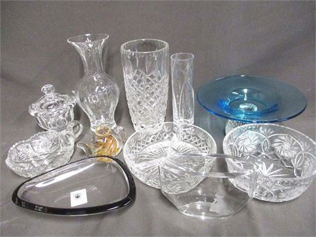 LOT OF CRYSTAL FEATURING BACCARAT, TIFFANY, ORREFORS, AND LENOX