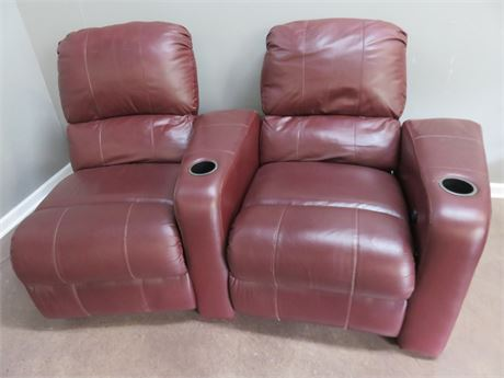 Motorized Leather Theater Seat Recliners