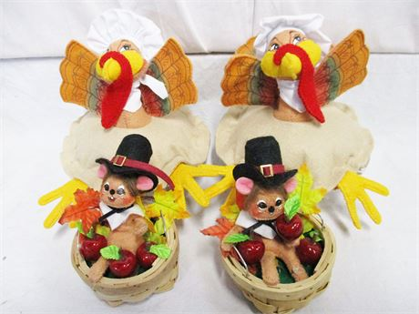 ANNALEE TURKEYS AND MICE FOR THANKSGIVING
