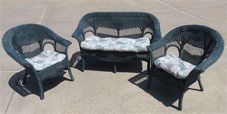 Synthetic Wicker 3-Piece Patio Set