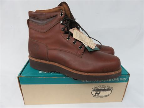 LAKE OF THE WOODS Men's Leather Work Boots - SIZE 13D