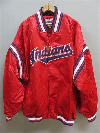CLEVELAND INDIANS Starter Jacket - Size 3XL