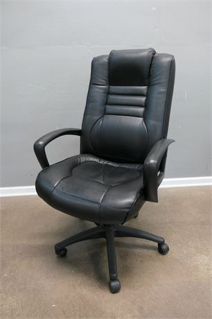 Black Padded Office Chair on Casters by Suspa