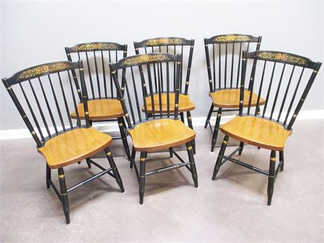 LOT OF 6 REPRODUCTION HITCHCOCK CHAIRS