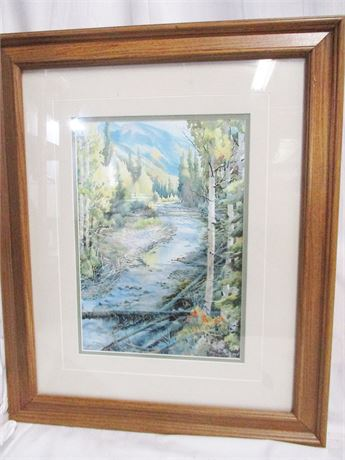 """""""AUTUMN LIGHT"""" BY RALEIGH KINNEY #30/200 - SIGNED"""