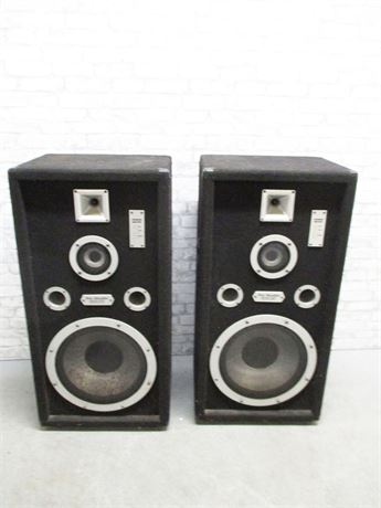 PAIR OF PRO-STUDIO INDUSTRIAL SOUND SPEAKERS WITH PRESSURE SYSTEM