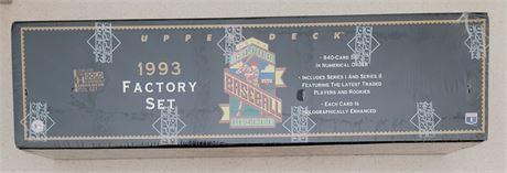 Derek Jeter 1993 Upper Deck Baseball Factory Sealed Complete Baseball Set