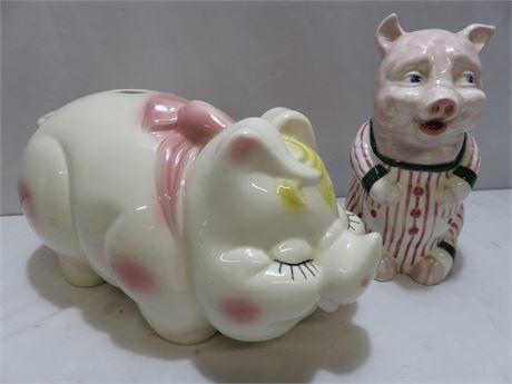 Vintage Ceramic Piggy Banks