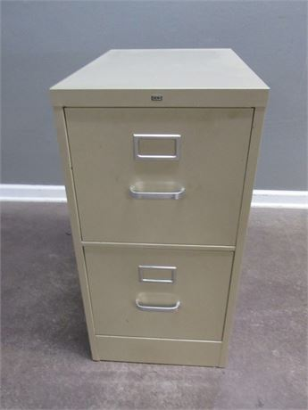 Hon Tan 2-Drawer Metal Filing Cabinet