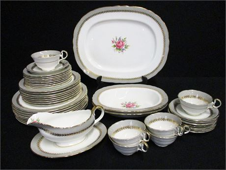 43-PIECE LOT OF VINTAGE AYNSLEY BONE CHINA