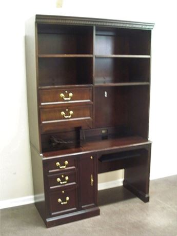 HEKMAN DESK WITH HUTCH