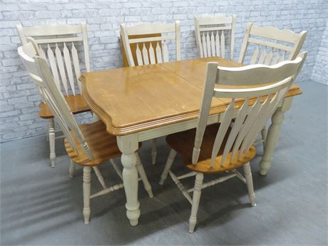Country Farmhouse Style Dining Table