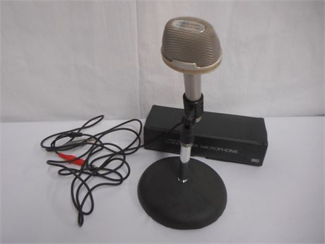 REALISTIC STEREO ELECTRET CONDENSER MICROPHONE WITH CASE AND STAND