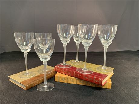 Frosted Stemware Wine Glasses